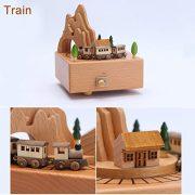 Bote--Musique-en-Bois-Carrousel-Mcanique-Bote--Musique-Enfant-Chambre-Dcoration-Belle-Slection-de-Cadeaux-Petit-train-0-1