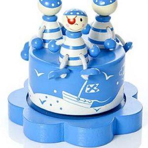 Mousehouse-Gifts-Bote--musique-enfants-bb-garon-bleu-pirate-0