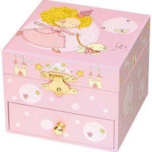 Trousselier-Princesse-Petit-Coffret-Musical-Princesse-Chien-Rose-0