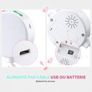 Version-Amliore-TOPELEK-Bote--Musique-Electrique-Mobile-pour-Bb-avec-128M-Carte-Micro-SD-et-12-Chansons-Jouets-et-Cadeaux-pour-Bb-Blanc-0-1