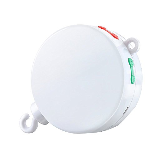 Version-Amliore-TOPELEK-Bote–Musique-Electrique-Mobile-pour-Bb-avec-128M-Carte-Micro-SD-et-12-Chansons-Jouets-et-Cadeaux-pour-Bb-Blanc-0